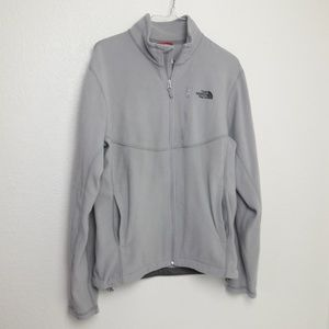 The North Face Light Gray Mens Zip up Fleece S